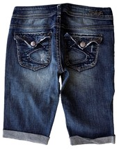 SILVER Jeans Sale Low Rise Pioneer Flap Pocket Denim Stretch Jean Mid Sh... - $19.97