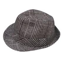 Towilliamsnya Check wool felt hat small top hat jazz hat - £18.65 GBP