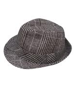 Towilliamsnya Check wool felt hat small top hat jazz hat - $25.99