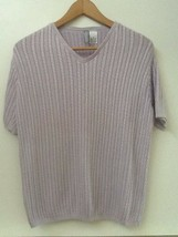 Collection By Cherokee Womens Size S Light Purple Short Sleeve Sweater Top - $11.95