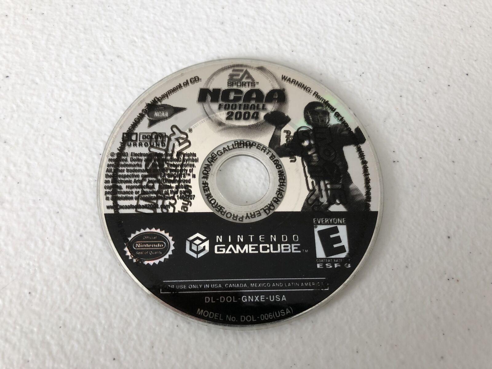 NCAA Football 2004 - Nintendo Gamecube - Cleaned & Tested