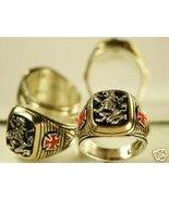 Rampant lion,Cross Signet ring,,,Sterling Silver.Lge. - $83.00