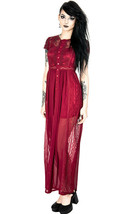 Restyle Red Grace Punk Emo Gothic Rockabilly Adult Womens Dress Lace Gown - $98.04