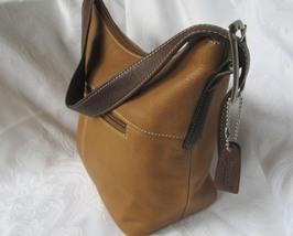 Two Tone Tignanello Natural Leather Shoulderbag / Handbag - $36.00