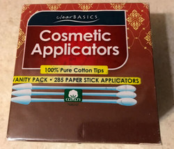 Cosmetic Applicators by Clear Basics Cotton Tips 285ct (NEW) - $11.07