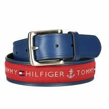 Tommy Hilfiger Men's Premium Ribbon Inlay Anchor Logo Leather Belt 11TL02X032 image 15