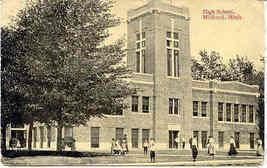 The High School Midland Michigan Vintage 1916 Post Card - $6.00