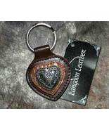 Leather Heart Shaped Key Ring in Browns - $5.99