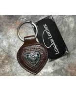 Brown Leather Heart Shaped Key Ring - $5.99