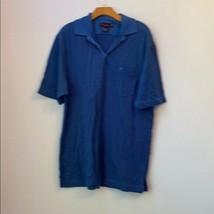 Tommy Bahama Golf Blue Striped Polo Shirt Size L - $26.72