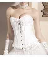 Bridal White Sweetheart Floral Brocade Jacquard... - $31.99