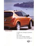 2003 Nissan MURANO sales brochure catalog set US 03 - $8.00