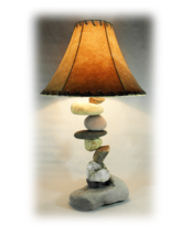 FALLING  ROCK  Rustic Table Lamp. fits most decors, like, western, south... - £181.77 GBP