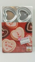 Wilton Aluminum 6 Cavity Heart Mini Cake Pan Love Brand New & Sealed Fre... - $19.75