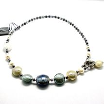NECKLACE ANTIQUE MURRINA VENICE WITH MURANO GLASS BEIGE SAND GRAY COB14A06 image 3