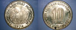 1974 Vietnamese 10 Dong World Coin - Vietnam - $4.49