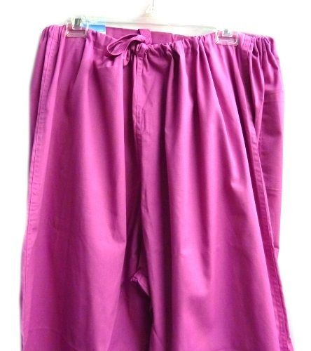 Landau Scrub Set Freesia 2XL V Neck Top Drawstrng Pants Women's Discontinued image 3