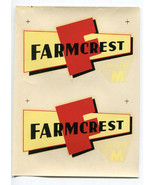 Farmcrest Model M Agriculture Farming Decal NOS - $7.43