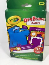 Crayola Dry Erase 32 Learning Flash Cards Grade PreK Introduce Reinforce... - $9.69