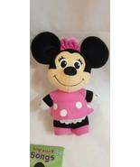 "Fisher price TALKING electronic Minnie Mouse 11"" pink w ribbon Plush Dis... - $0.98"