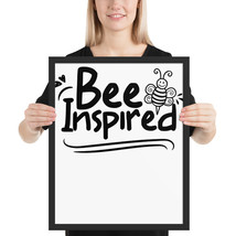 Bee Inspired fun 16x20 poster - $49.95