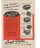 1945 Lamb Electric Motors Advertisement - $20.00