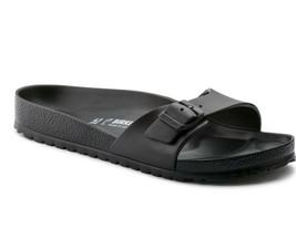 BIRKENSTOCK Madrid EVA Black Strap Women's Slide Sandals Narrow Fit 128163 - $55.71