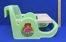 Doll High Chair Little Miss Rainbow Gay Toys Booster Seat Table Vintage ... - $14.84