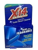 X-14 The Bathroom Expert Automatic Toilet Bowl Cleaner Blue Plus Fragran... - $5.53
