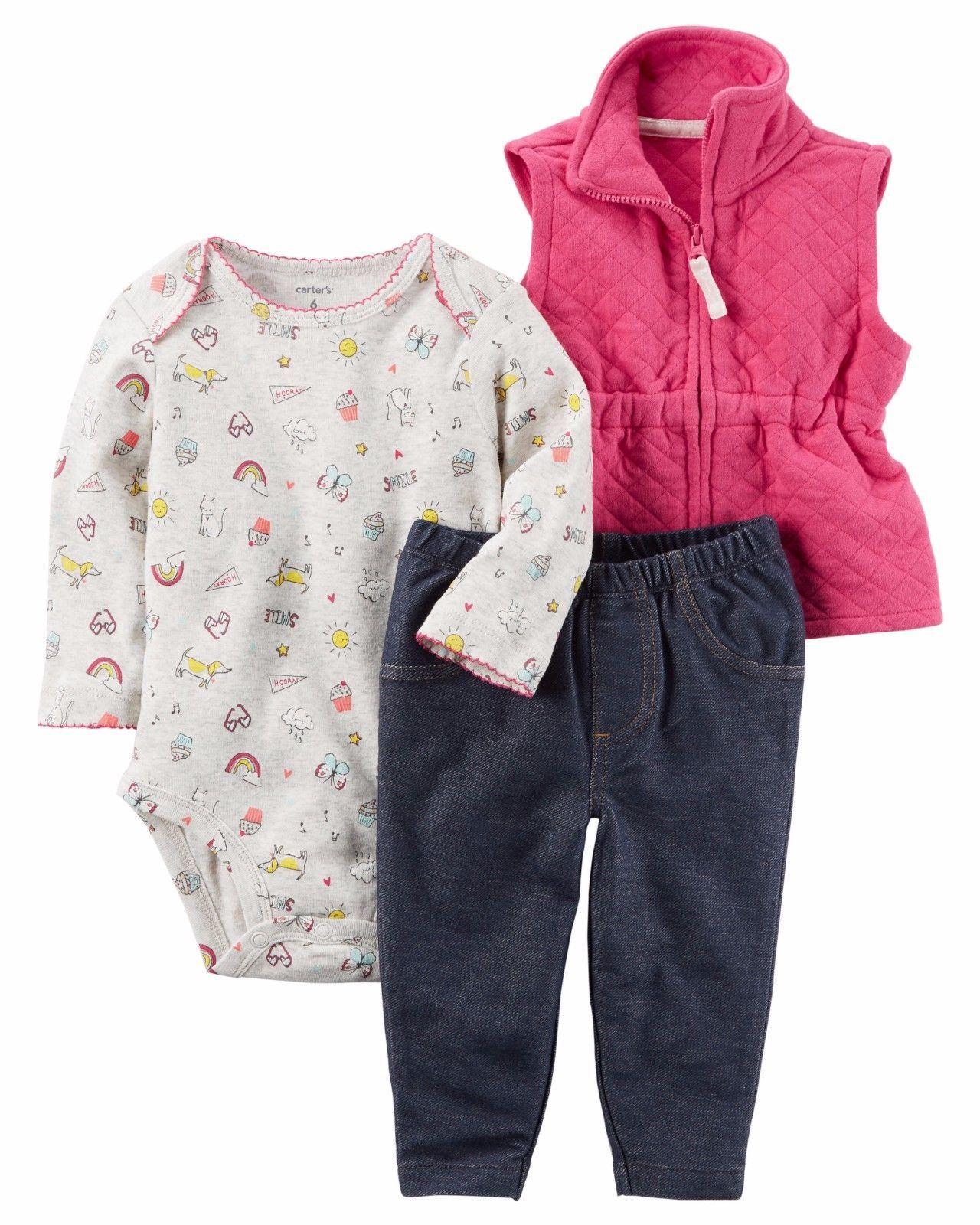 444391fc3 NEW NWT Carter's 3 Piece Vest Set Newborn 3 and 43 similar items