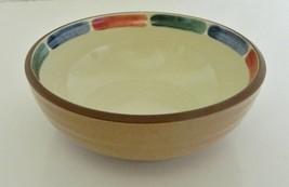 Noritake Stoneware Coupe Cereal Bowl Warm Sands Pattern Blue Green Terra... - $16.71