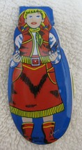 """Vintage Tin Litho Cowgirl Cow Girl Toy Clicker Made in Japan 2 1/2"""" Long M1 - $14.36"""