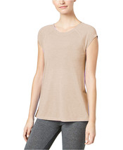 Calvin Klein Performance Womens Cap-Sleve Strappy-Back Brown T-Shirt S 4... - $18.50
