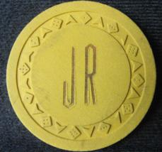 "N/D Obsolete Illegal Arodie Casino Chip From:  ""J.R. CLUB"" - (sku#4410) - $20.98"