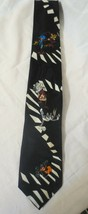 Looney Tunes Warner Bugs Taz Daffy Coyote Racing Collectible Necktie 1994 - $10.00