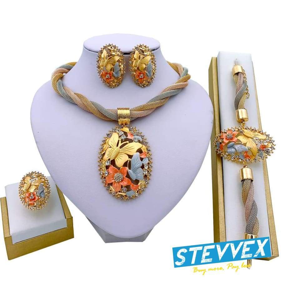 Primary image for Jewelry Charm Women Necklace Earrings  Gold Jewelry Sets for Women Wedding