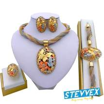 Jewelry Charm Women Necklace Earrings  Gold Jewelry Sets for Women Wedding  - $44.99