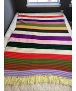 Handmade Crochet Blanket Rainbow - $98.99