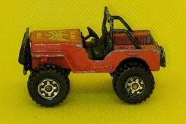 1981 Vintage Matchbox 4X4 Jeep Golden Eagle Die Cast Car, Red  - $9.80