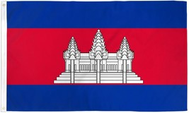 "CAMBODIA 3X5' FLAG NEW 3'X5' 3 X 5 FEET 36X60"" BIG - $9.85"