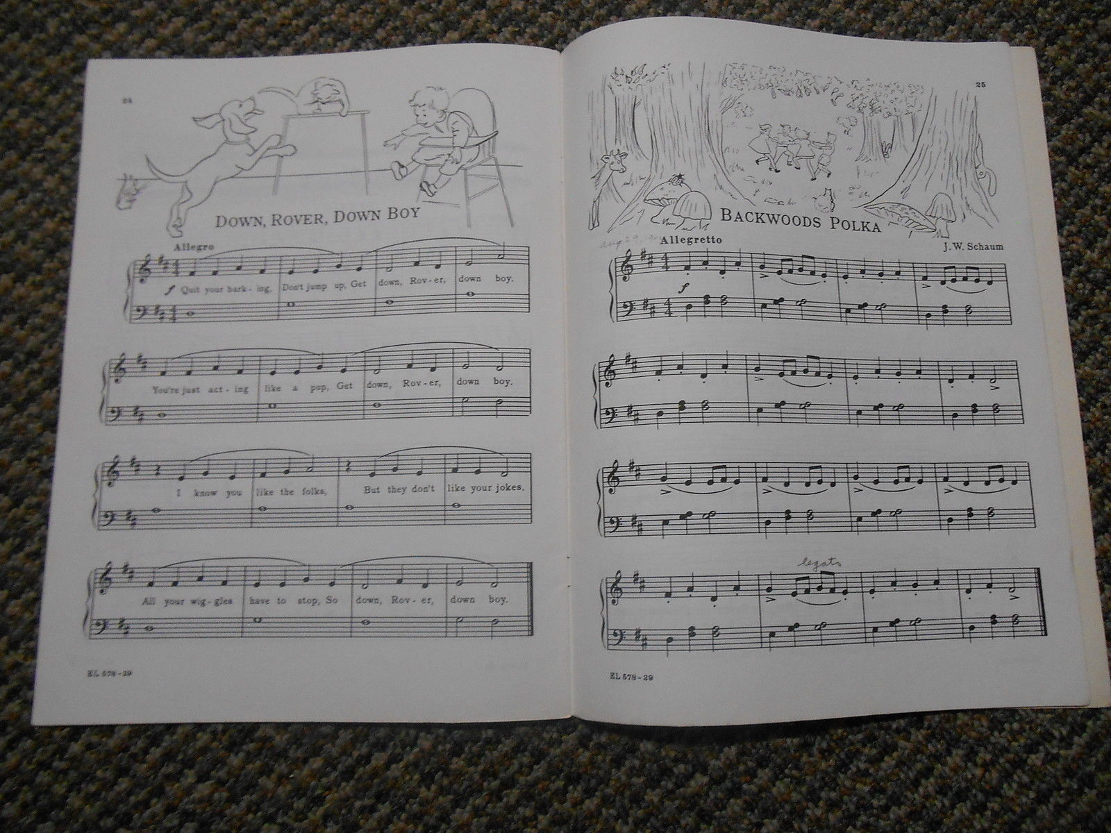 Old Vintage c. 1953 Sight Reading for Piano by John W Schaum Book 2 Belwin Mills