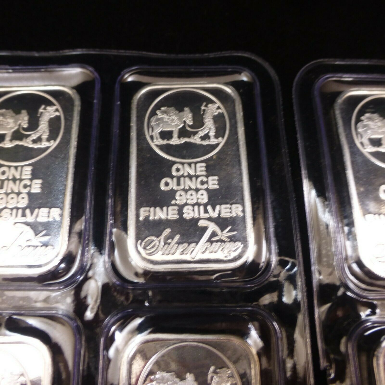 LOT OF 50 SilverTowne Prospector 1oz .999 Pure Silver Bars Mint New Unopened image 2