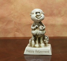 Vintage 1976 Russ Berries.co #9927 Happy Retirement  Man figurine statue... - $7.92
