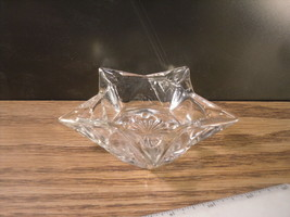 5 point Star Glass Large Votive Candle Holder or  Ashtray - $7.25