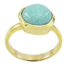 charming Turquoise Gold Plated Multi Ring supply US gift - $10.29