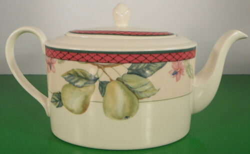 Johnson Brothers AUTUMN GROVE Teapot with Lid Fruit Border Retired - $39.55