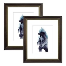 Trees&Forrest 8x10 Picture Frames with 5x7 White Mat Glass Front for Wal... - $22.10