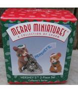 1998 Hallmark Christmas Merry Miniature HERSHEY'S Kiss #2 in Series 2 pc... - $20.00
