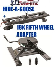 Drawtite Undrbed Gooseneck Trailer Hitch & 18K Fifth 5TH Wheel Adapter Ford F450 - $962.25
