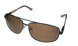 Timberland Mens Sunglass Brown Metal Aviator Brown Solid Lens TB7119 48G - $17.99